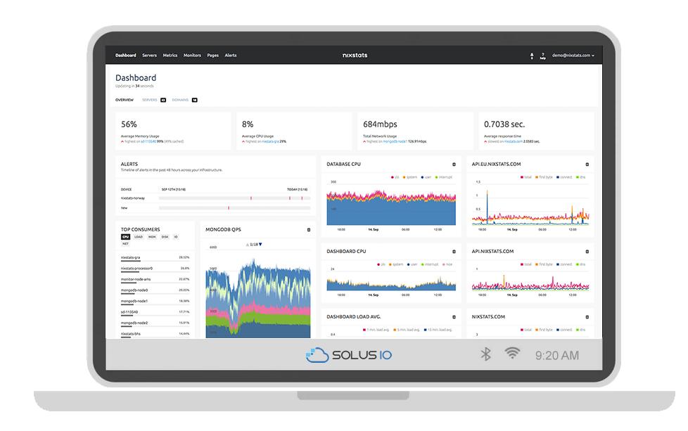 NIXStats Joins SolusIO as Member of Server Saas Group